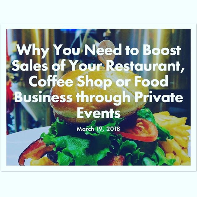 New on the Shakeblog: Marketing for private events should take center stage for most restaurants because of their ability to project sales many months in advance. So why do so many restaurants ignore them? Link in the bio. . . . . #restaurantmarketing #restaurateur #foodbusiness #privateevents #privateparties #reservations #restaurantbusiness #restaurantowner #restaurants #restaurant #restaurantlife #coffeeshopowner