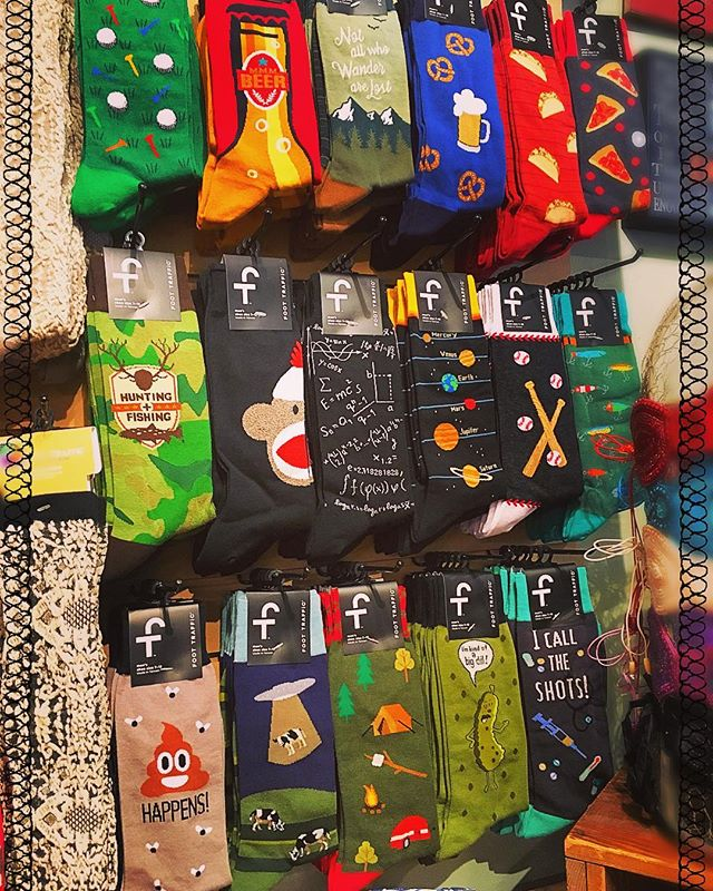 Men's Socks 🧦 are in!  Took us long enough eh?? #bohemia #yycshopping #bohemiastore #turnervalley #hippiefashion #mensfashion #funnysocks #shoplocal #supportlocal #sockmonkey