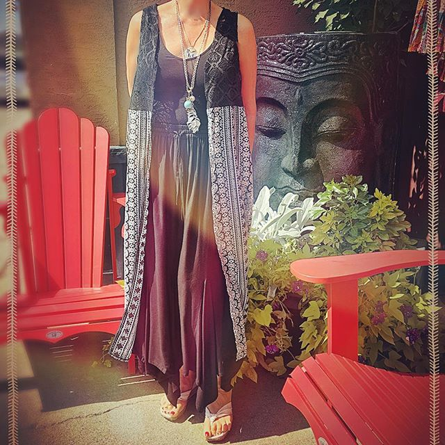 Dusters are back big time this season!  Bohemia is offering a wicked deal on these, at $14.99!  #yycshopping #blackdiamondalberta #turnervalley #shoplocal #bohostyle #geometricdesign #lace #duster #dustervest #boho #hippie #hippiestyle #hippiefashion #summeroutfit #styleinspo