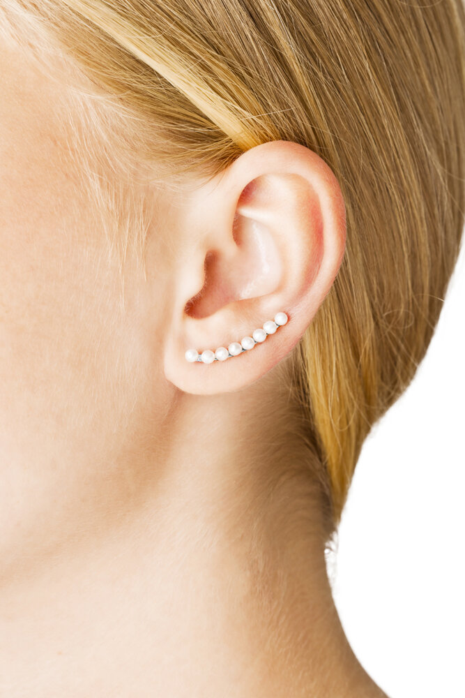 Iris Earring Long Silver Vibe Harslof