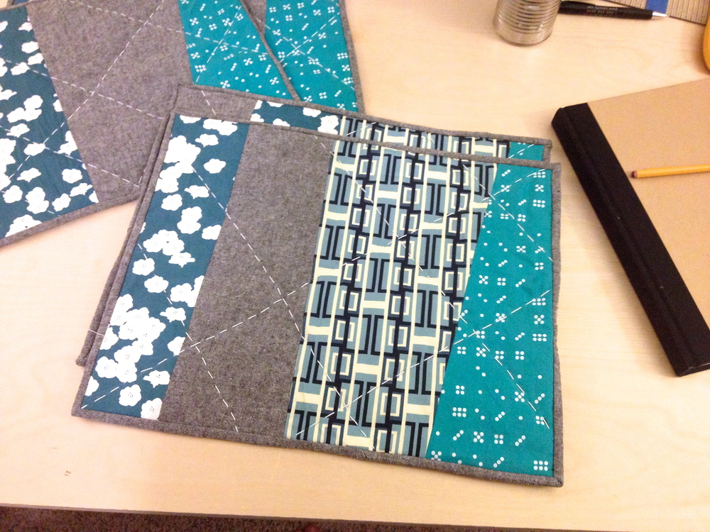 Modern quilted placemats 1