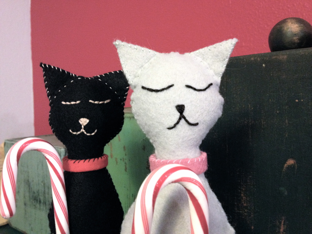 Felt kitty cat craft
