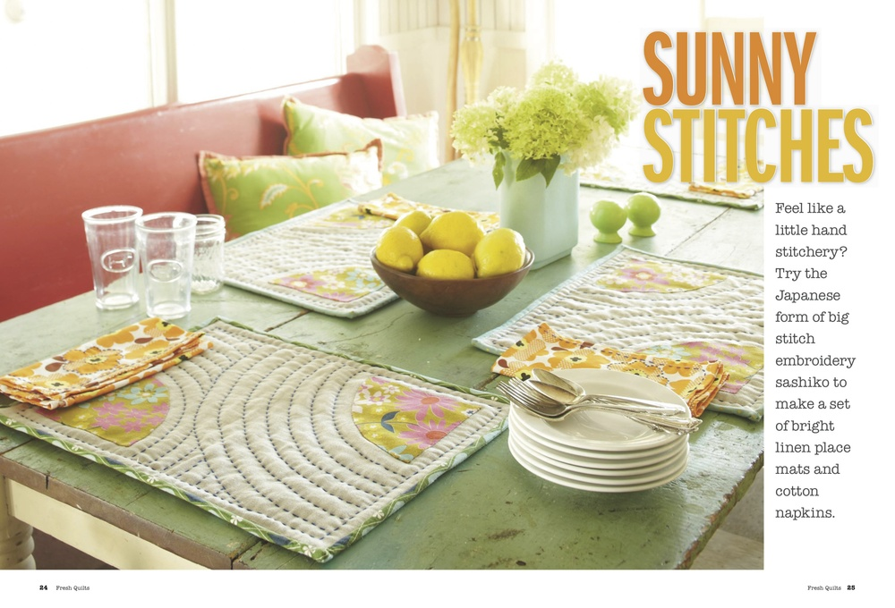 Fresh Quilts Spring 2014 | Sunny Stitches Placemats