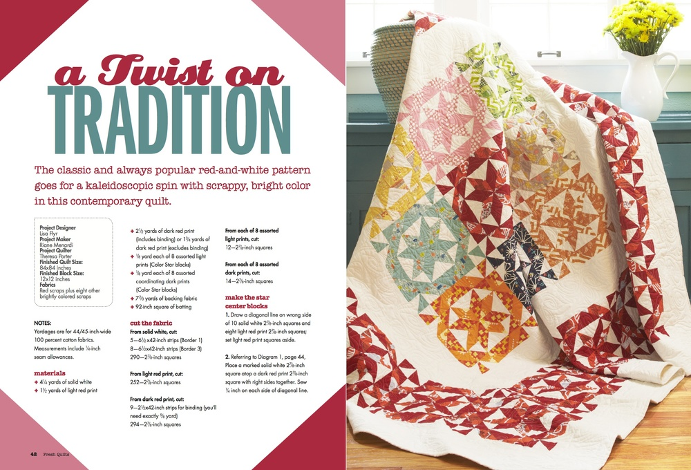 Fresh Quilts Spring 2014 | Twist on Tradition Quilt