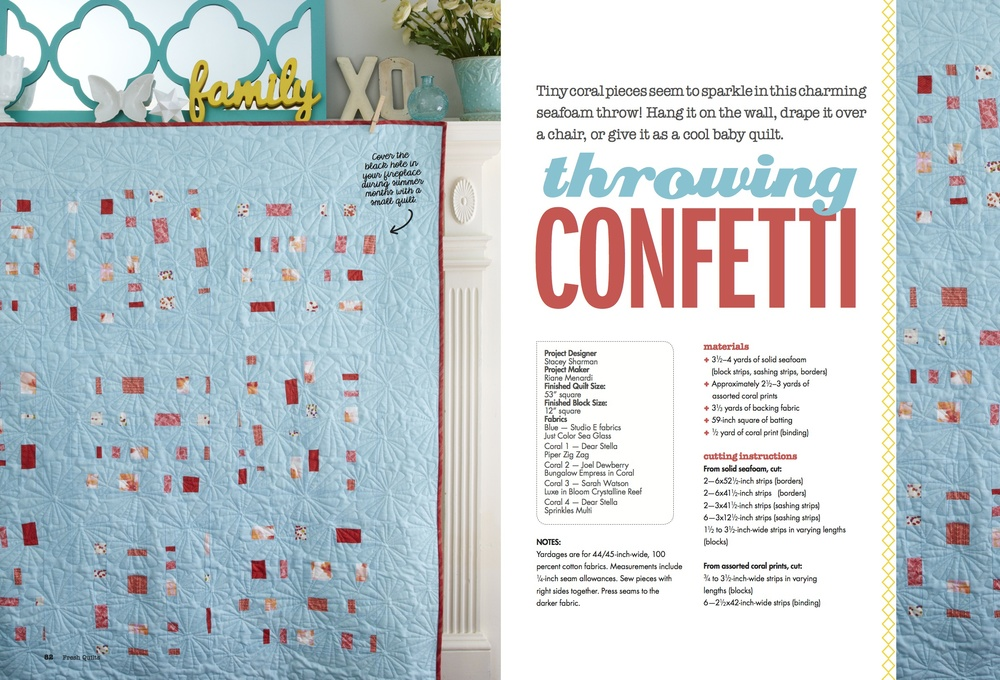 Fresh Quilts Spring 2014 | Confetti Quilt