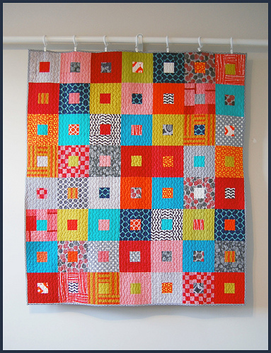 Baby B's Baby Quilt by bits + bobbins
