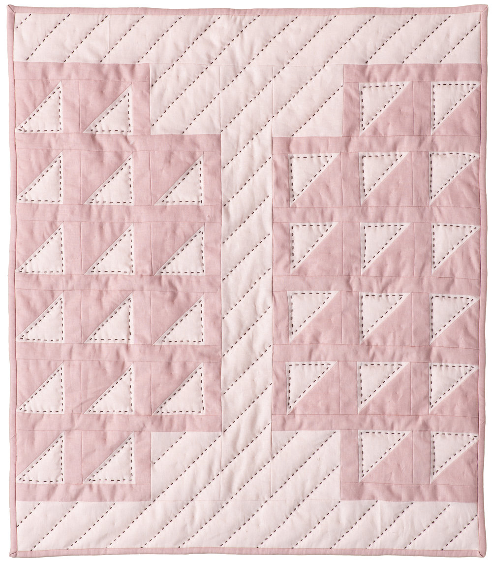 "First Blush – Quilt 1 Crib size, 28"" x 32"""