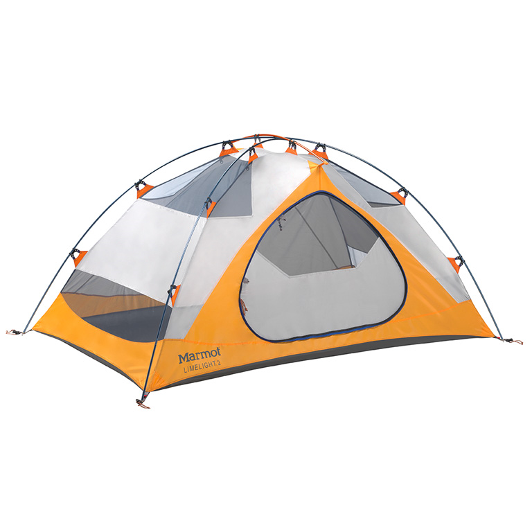 "Marmot LimeLight2  2 person Trail Weight: 4lb 10oz Floor Area: 32 sq feet Head Height: 3' 5"" Vestibule: front"