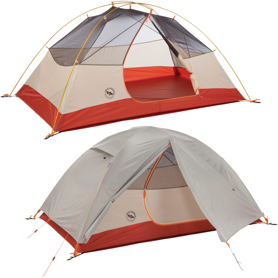 "Big Agnes Lone Spring  2 person                                           3 person Trail Weight: 4lb 7oz                      Trail Weight: 5lb 5oz Floor Area: 34 sq feet                    Floor Area: 47 sq feet Head Height: 3' 6""                          Head Height: 3' 10"" Vestibule: front                               Vestibule: front"