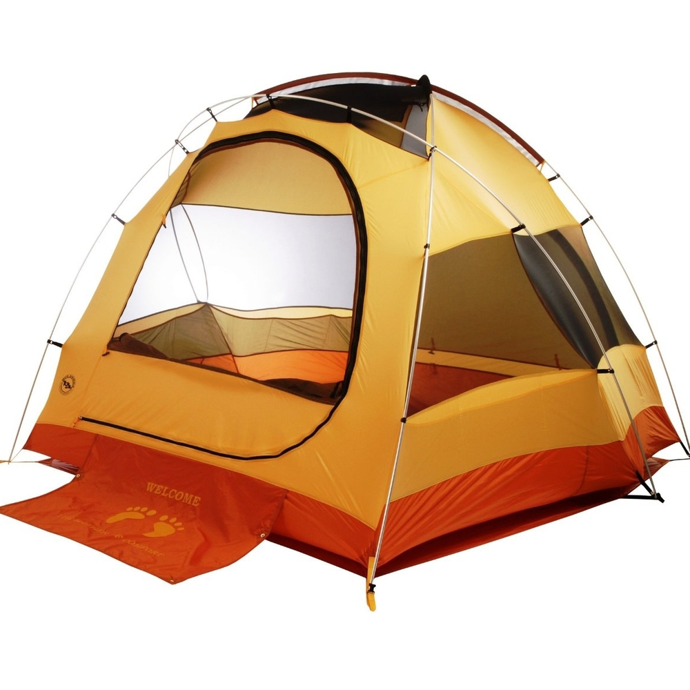 "Big Agnes Big House 4  Trail Weight: 9lb 7oz Floor Area: 65 sq feet Head Height: 5' 8"" Vestibule: sold separately, not available for rent"