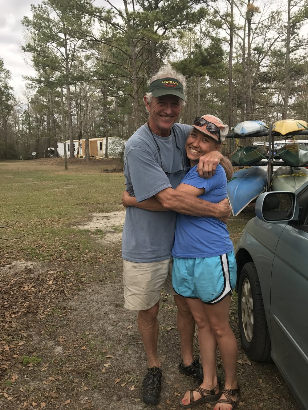 Me and CR no ready to say goodbye after two amazing days on the river and exploring the swamp.