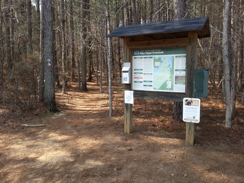 Trail head entrance at New Hope Overlook.