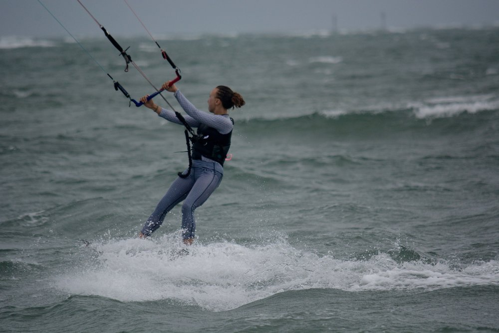 Kiteboarding in the ocean has built my self-confidence and courage in many ways.