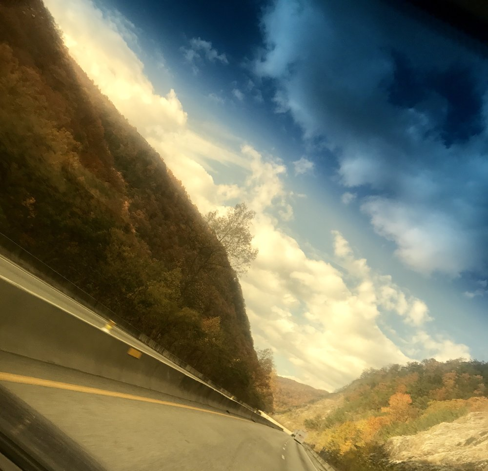 Beautiful views of the Smoky Mountains in route to the Grassroots Outdoor Alliance buying show in Knoxville, TN.