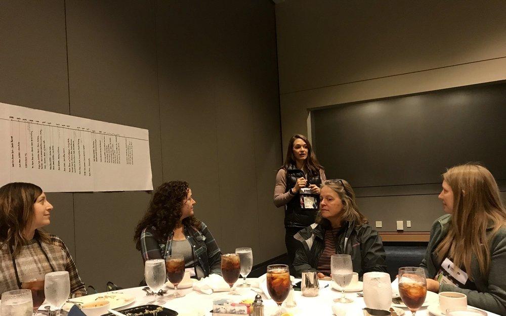 Dana Howe  leading Women's Empowerment Luncheon with incredible women owners and operators of speciality outdoor retail shops all over the country.