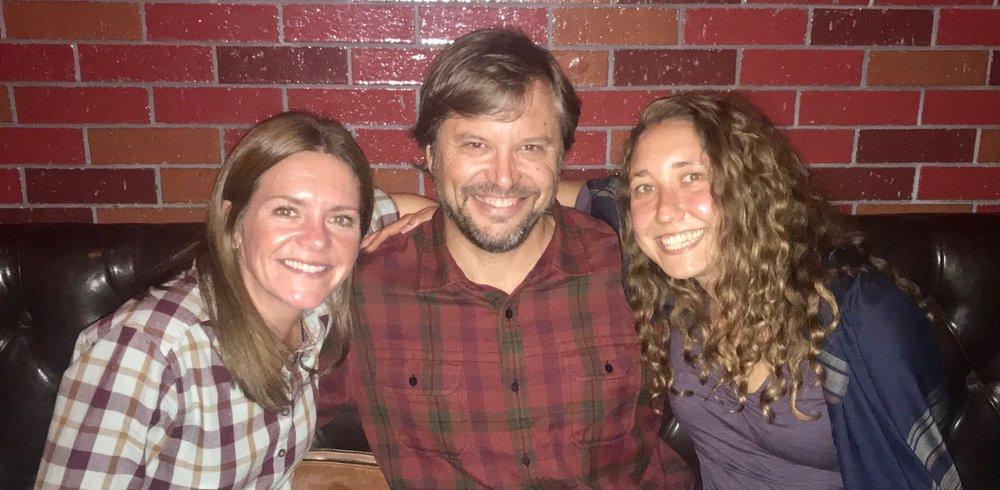 Sarah, Gordon and Betsy keeping good company :)