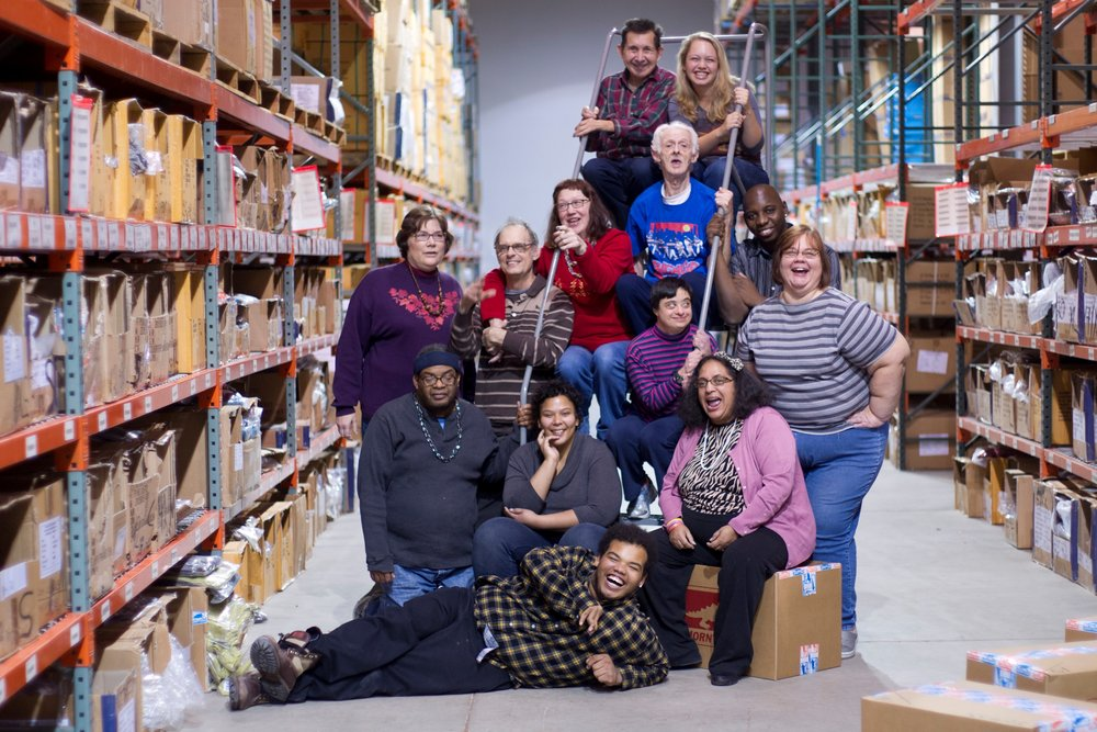 The amazing team that packs and ships all Toad products!