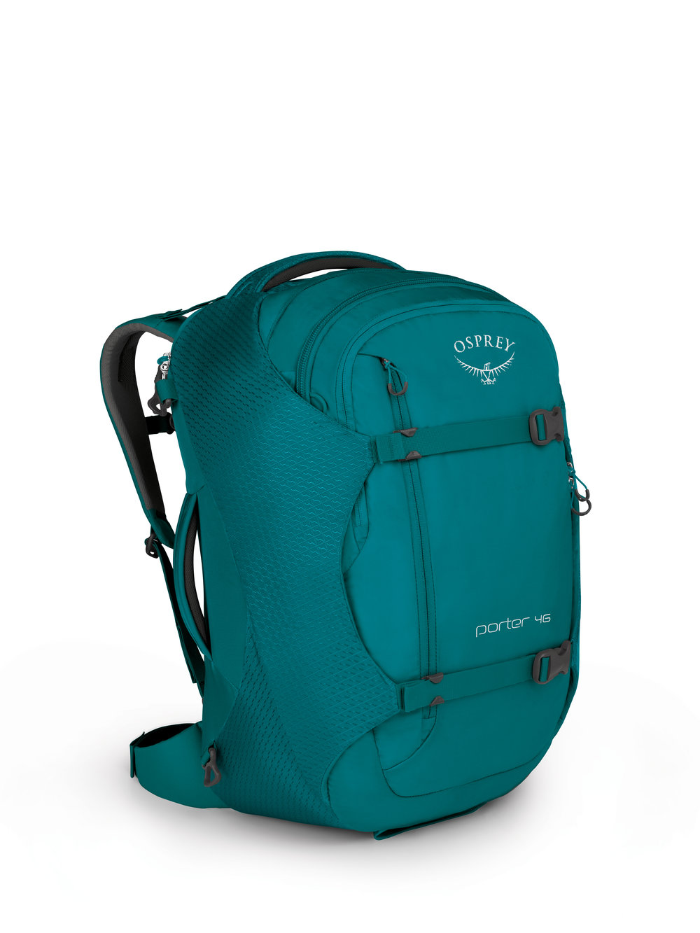 Rosie's Favorite Osprey bag, the Porter 46. Adventure to TB&C to check it out for yourself.