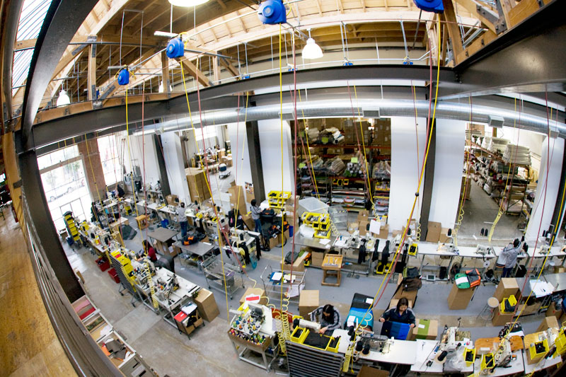 The Timbuk2 Factory.