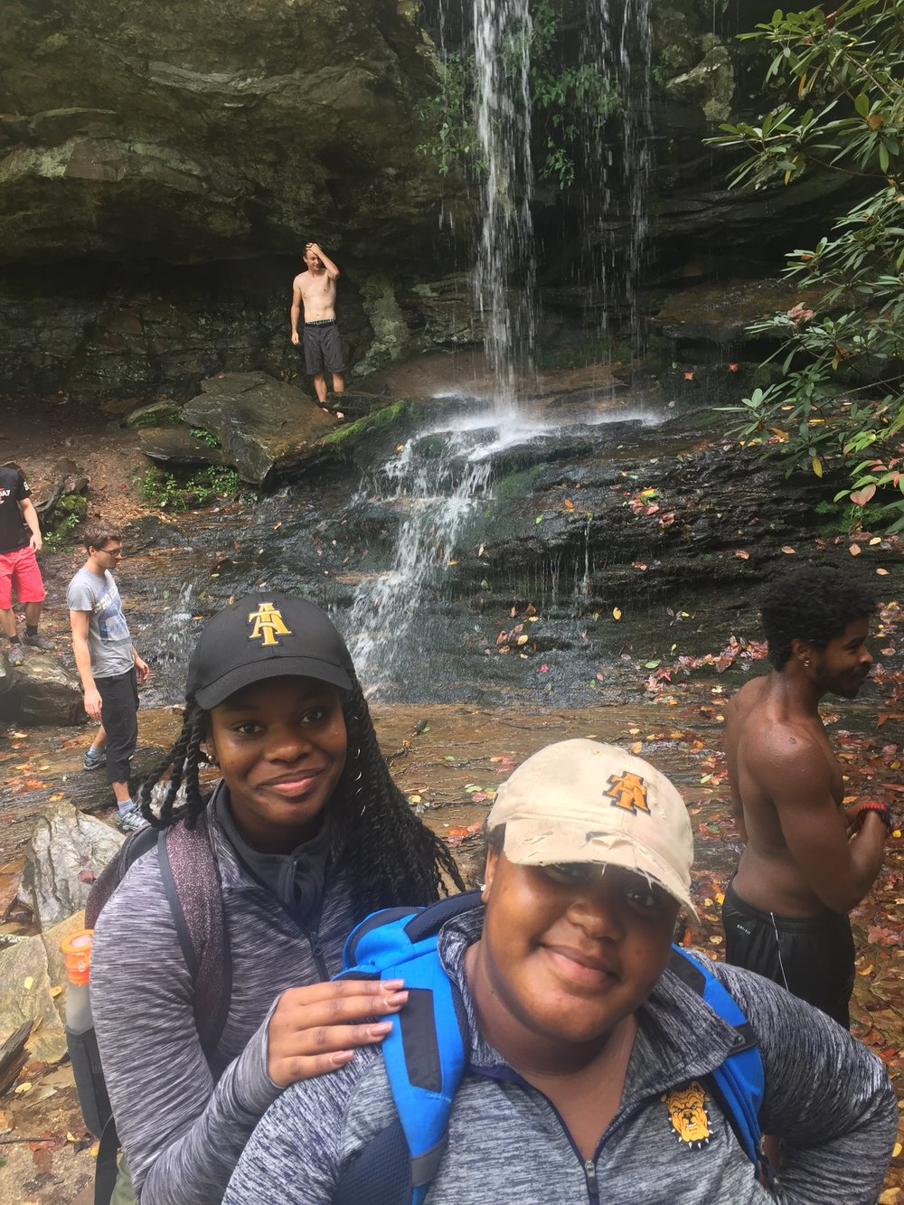 Hiking Looking Glass Falls at Hanging Rock State Park, Danbury, NC