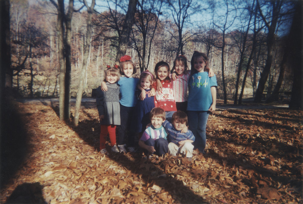 Me, in the bright red wool pants (can we appreciate my style) with my cousins. The French Broad River Park was well frequented and well loved by our family.