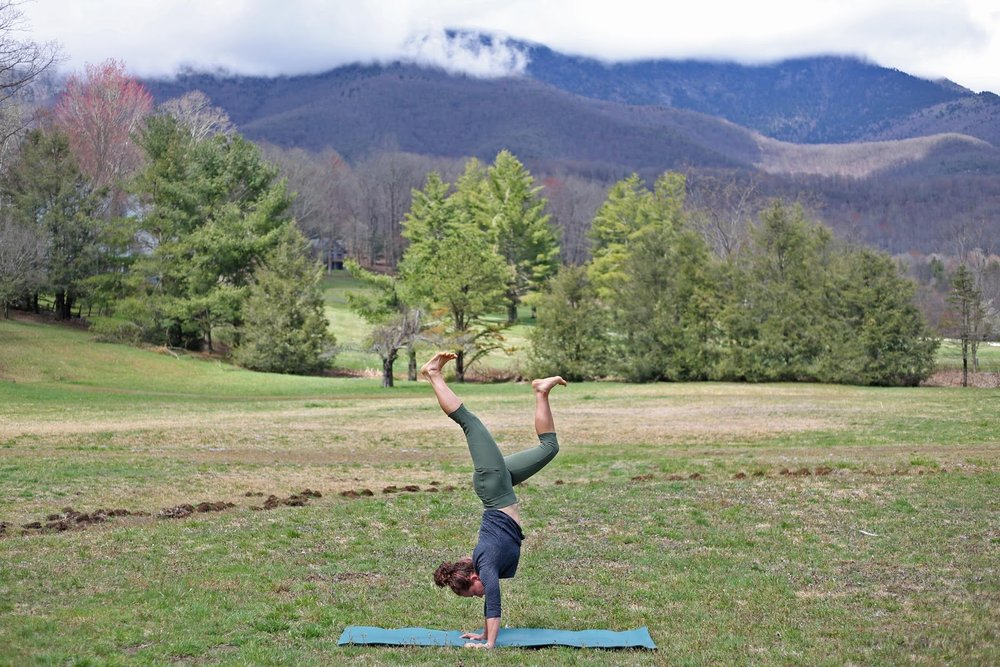 Yoga outside (and in the mountains) is the best.