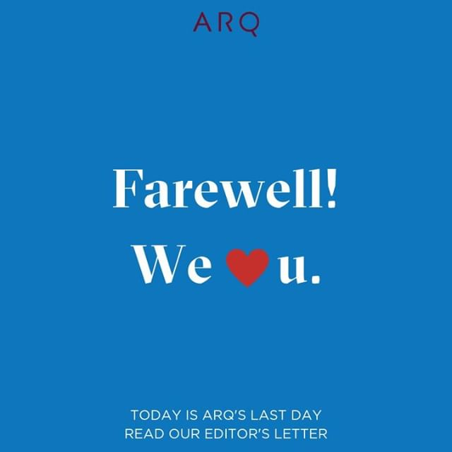 Big news: today is Arq's last day. ✨ The website will stay up, but we're ending this wonderful, fulfilling, mind- and soul-expanding experiment. ✨ Click on the link in our bio to read our founder @danyashults' letter and learn more about her decision to wind down Arq. ✨ SO much gratitude for you, our readers and supporters. We'll miss you!