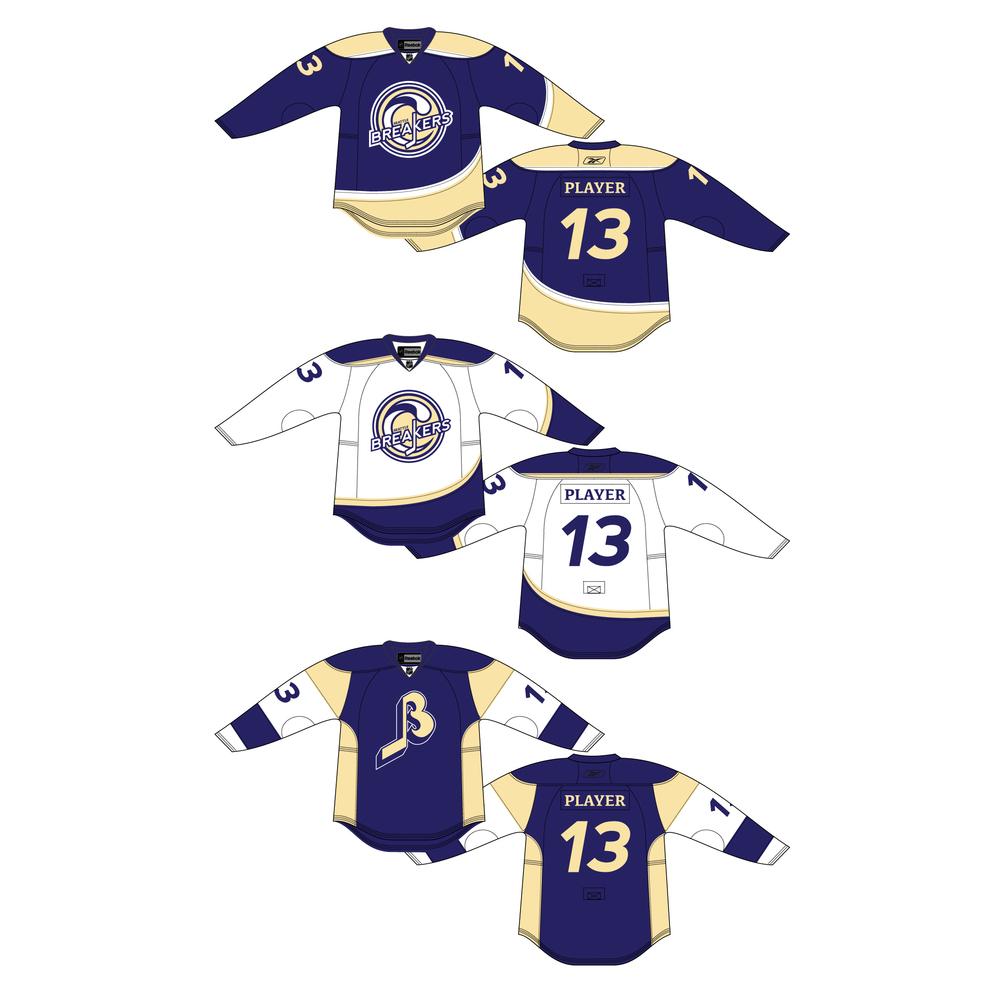 Seattle Breakers jersey set