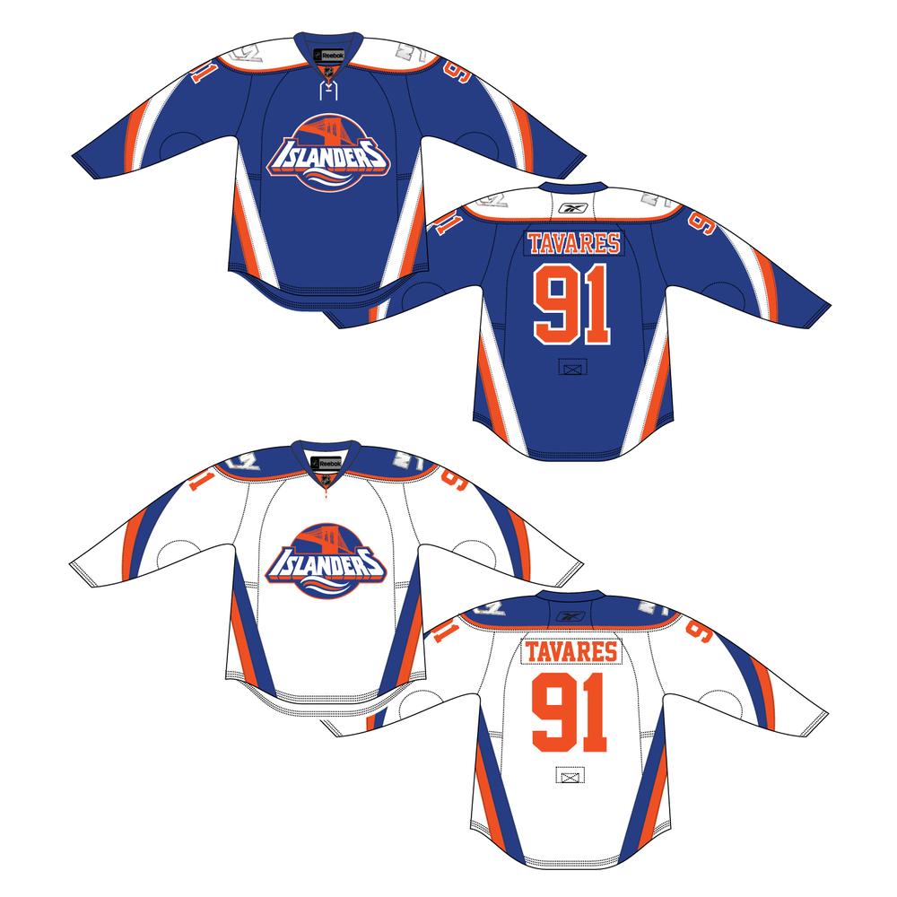 Brooklyn Islanders jersey set