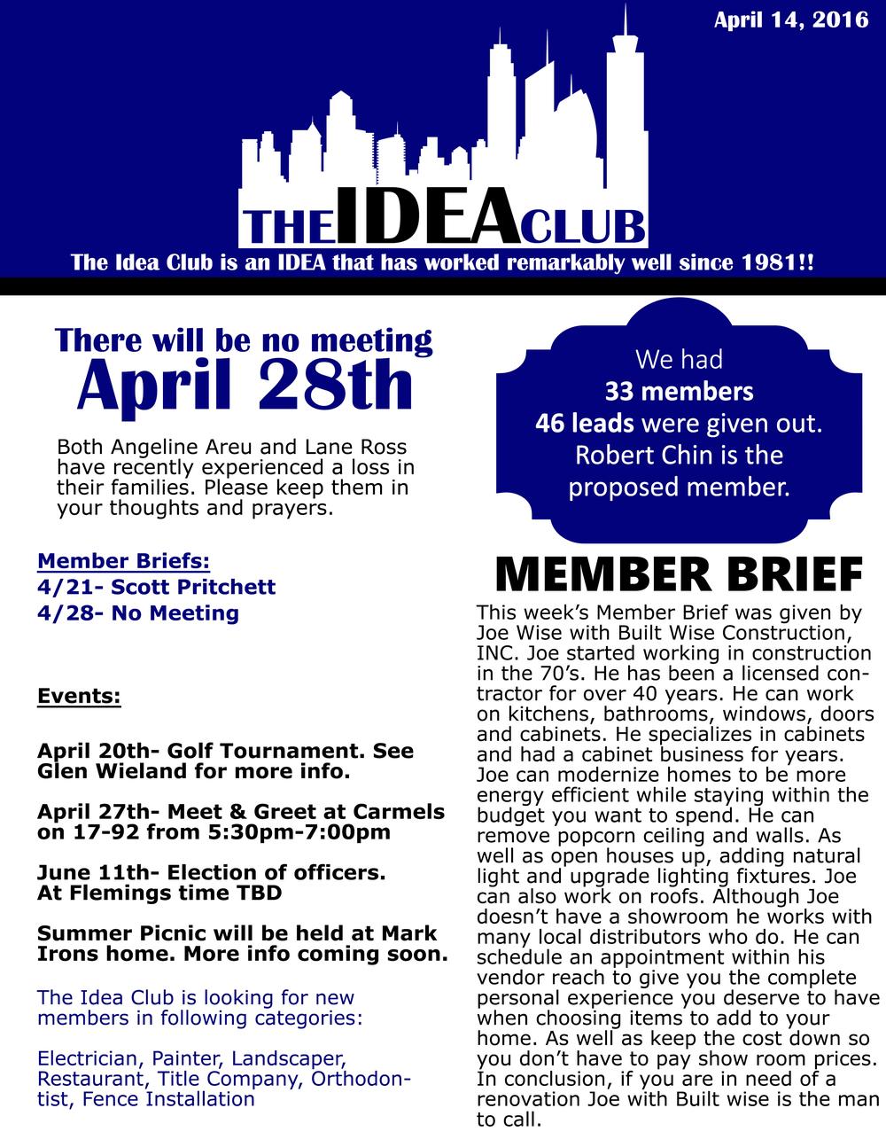 April 14, 2016