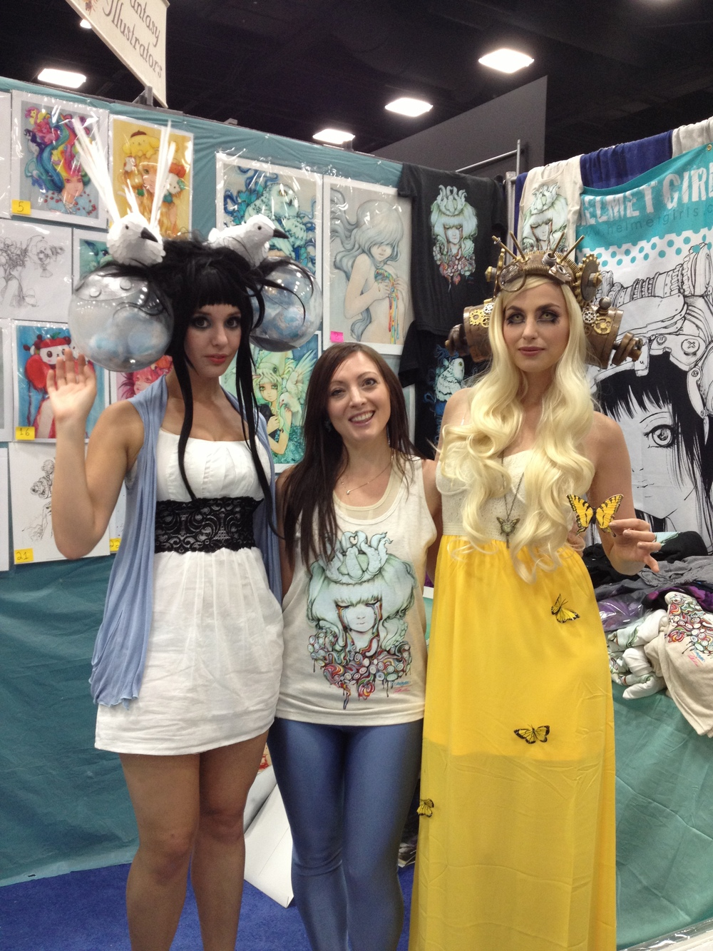 Meagan Marie and Lisa Lou Who as The Heart and The Egg Thief. Cosplay to the max!