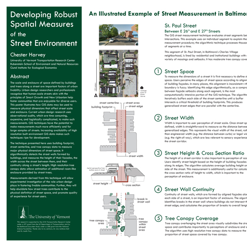 Developing Rubust Spatial Measures of the Street Environment