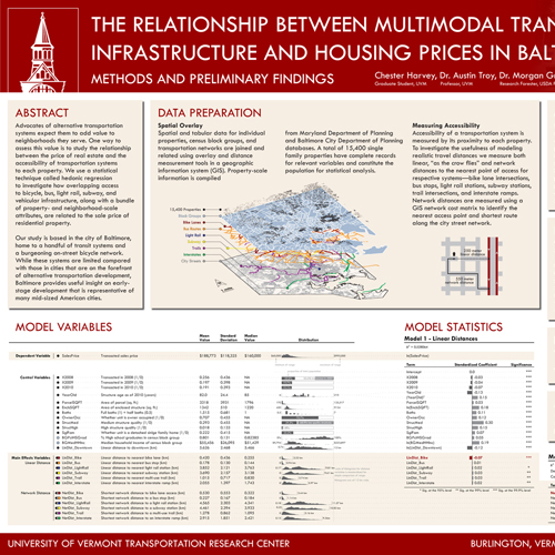 The relationship between multimodal transportation infrastructure and housing prices in Baltimore