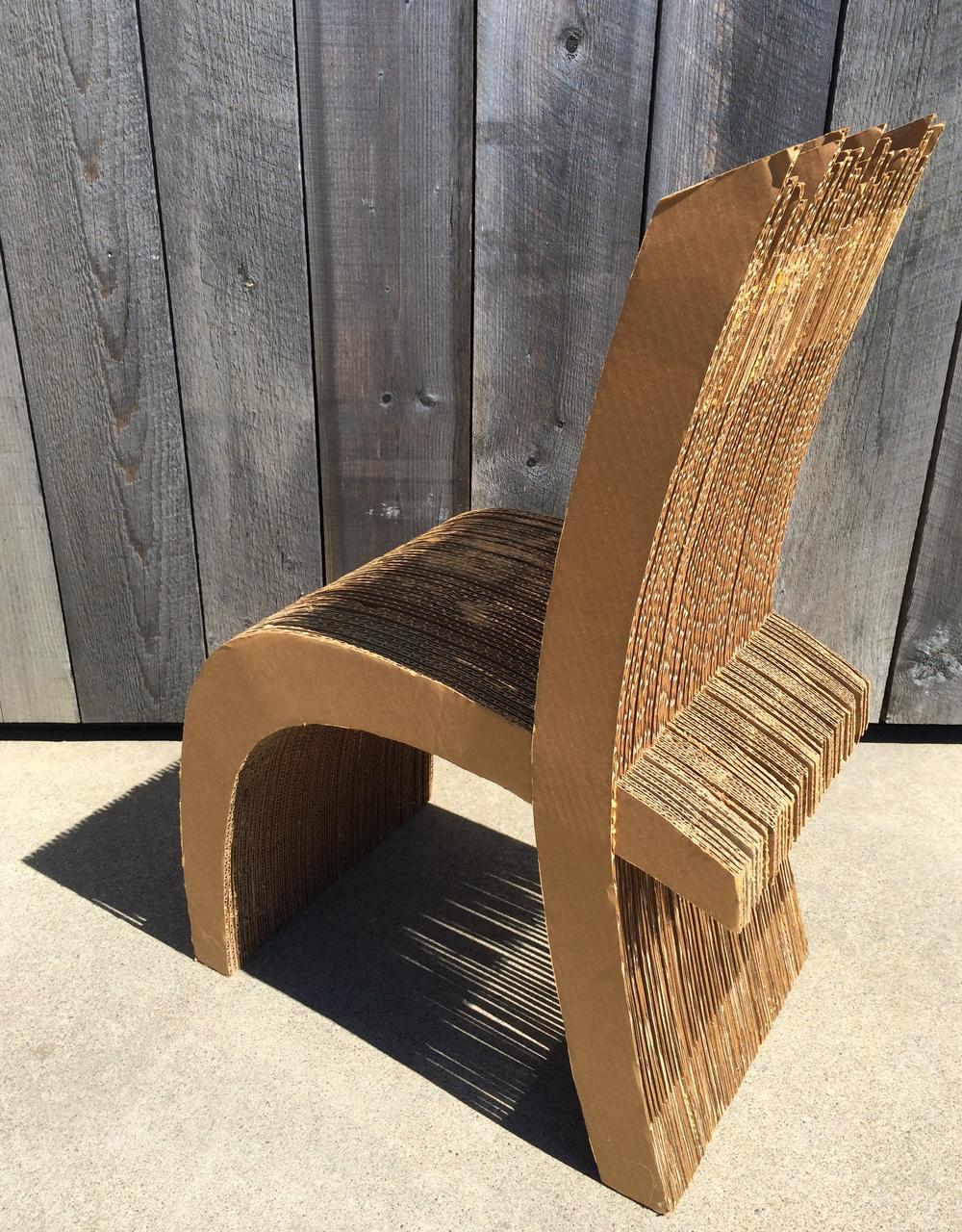 Corrugated cardboard furniture - Carboardchair Jpg