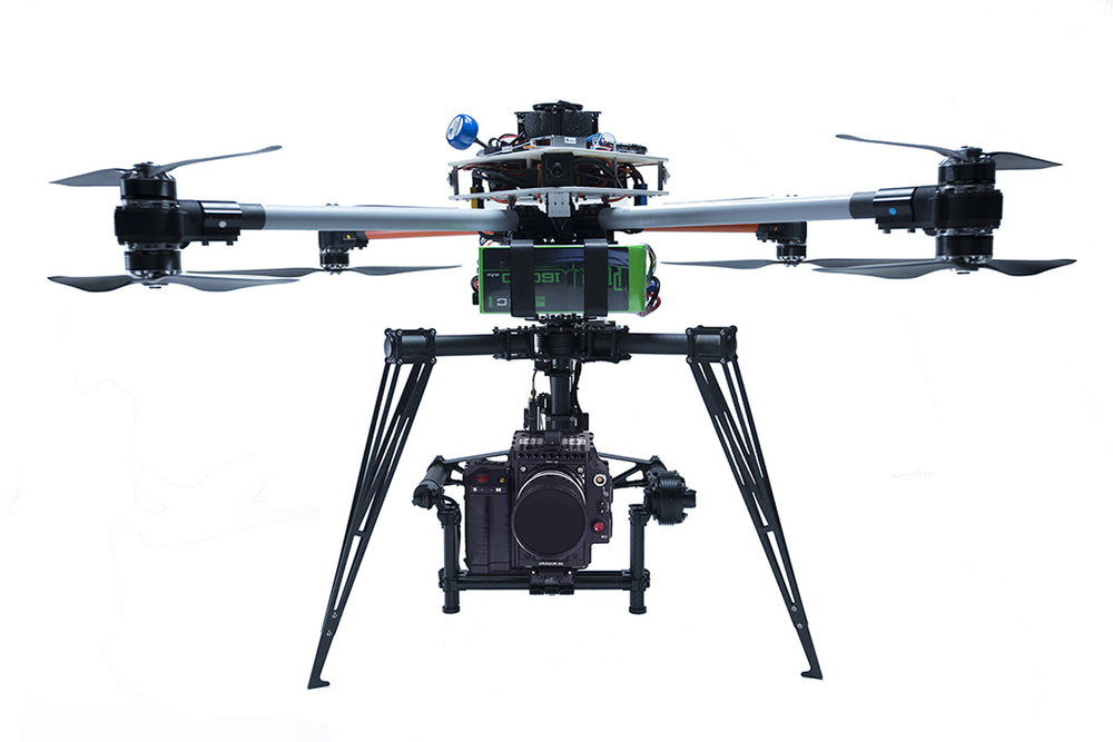 Customized Allied Drones X8 Octocopter Drone with Freefly M10 gimbal and RED camera.