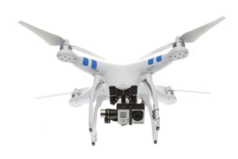 DJI Phantom 2 with Zenmuse HD-3D gimbal and modified GoPro camera.