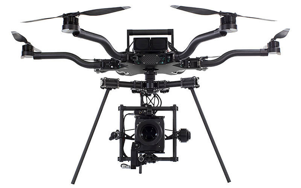 Freefly ALTA Hexacopter Drone with ARRI ALEXA Mini onboard.