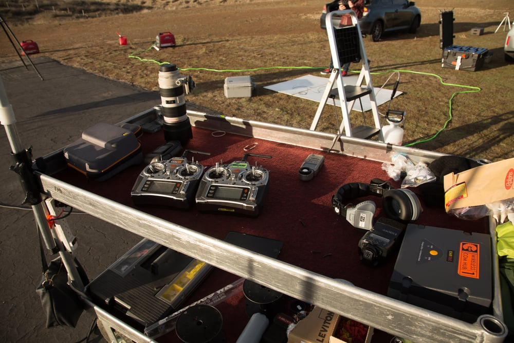 Our  Yaeger Cart  with  Spectrum DX8's  and  Eartec Comstar  headset system