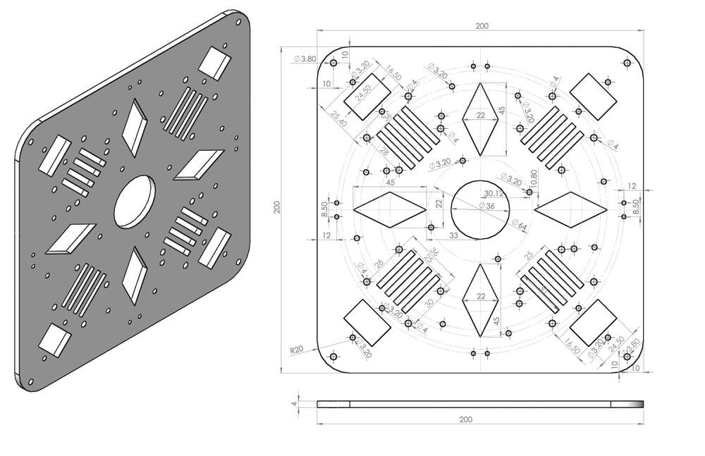 Octocopter_X8_center_plate_CAD_prototype