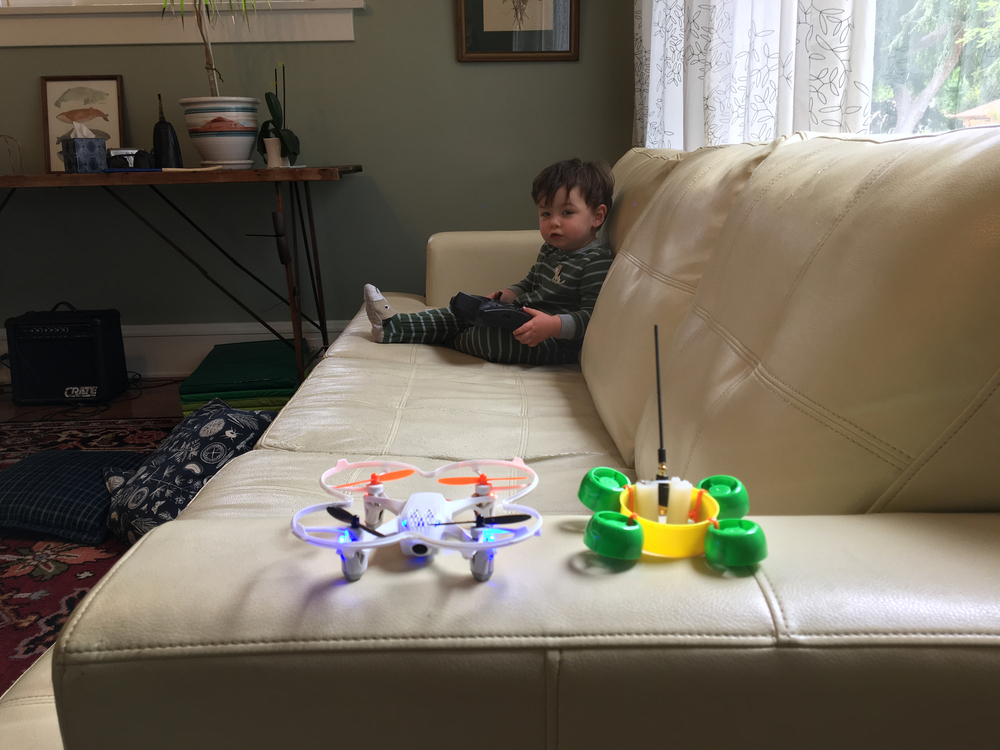 Just a boy and his drones!