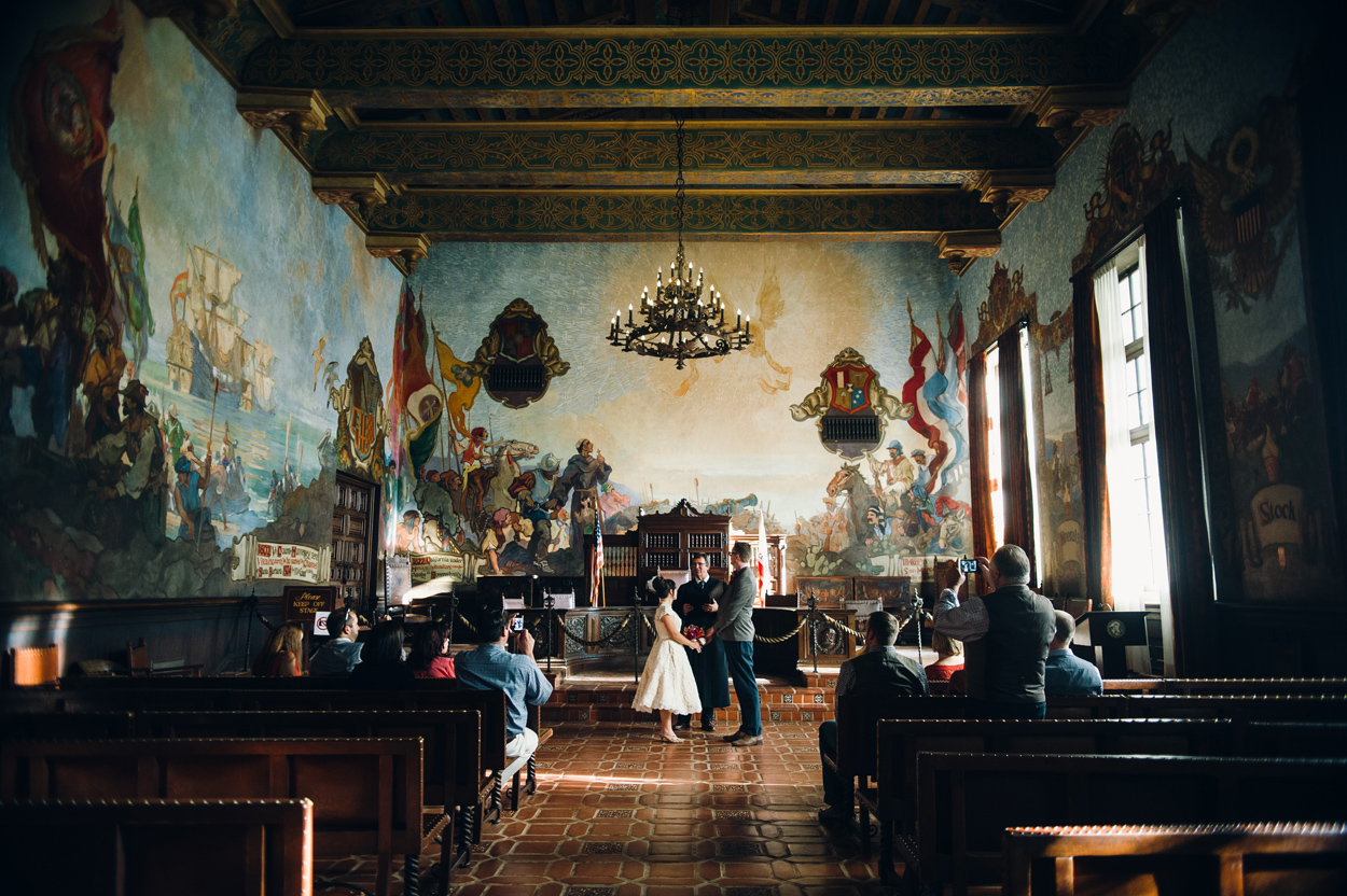 Santa Barbara Courthouse Wedding Mural Room