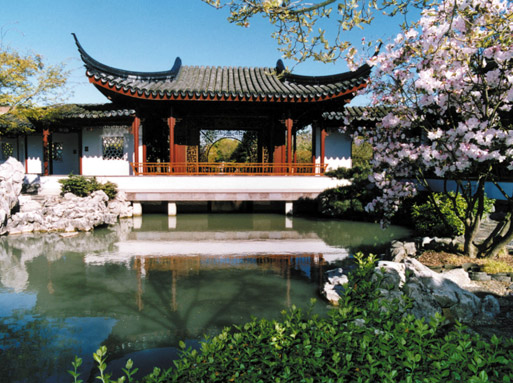The Jade Water Pavilion at the Dr. Sun Yat-Sen Classical Chinese Garden
