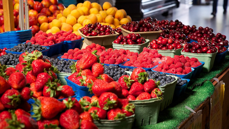 local fresh fruit at granville island