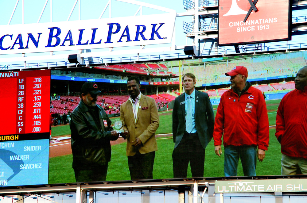 Clay Holland ( Owner and President), Sean Rugless (President of African American Chamber of Commerce), Charlie Frank (Cincinnati REDS), Chris Bain (Kokosing Construction Co.) Joe Morgan (MLB Hall of Famer and Former Cincinnati Reds Player).