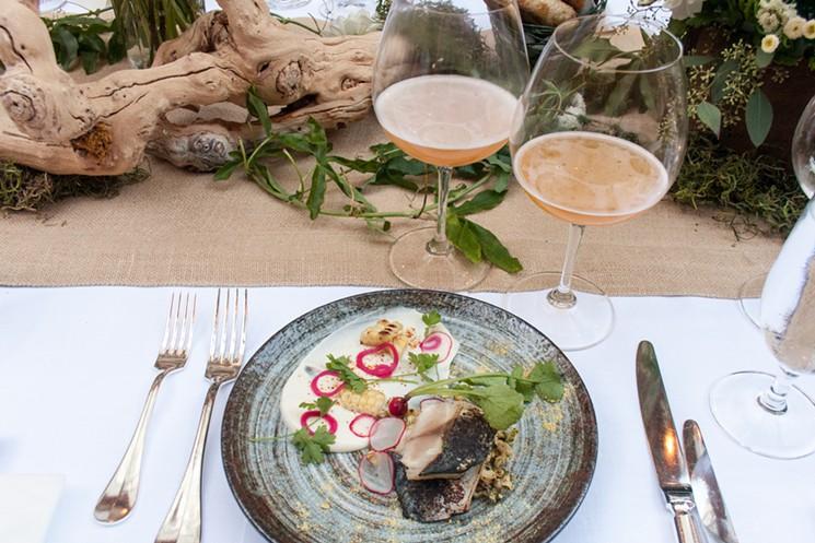 Pickled mackerel salad and golden ale - Erika Bolden