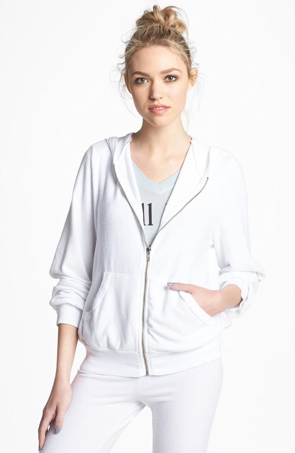 Simple white hoodie