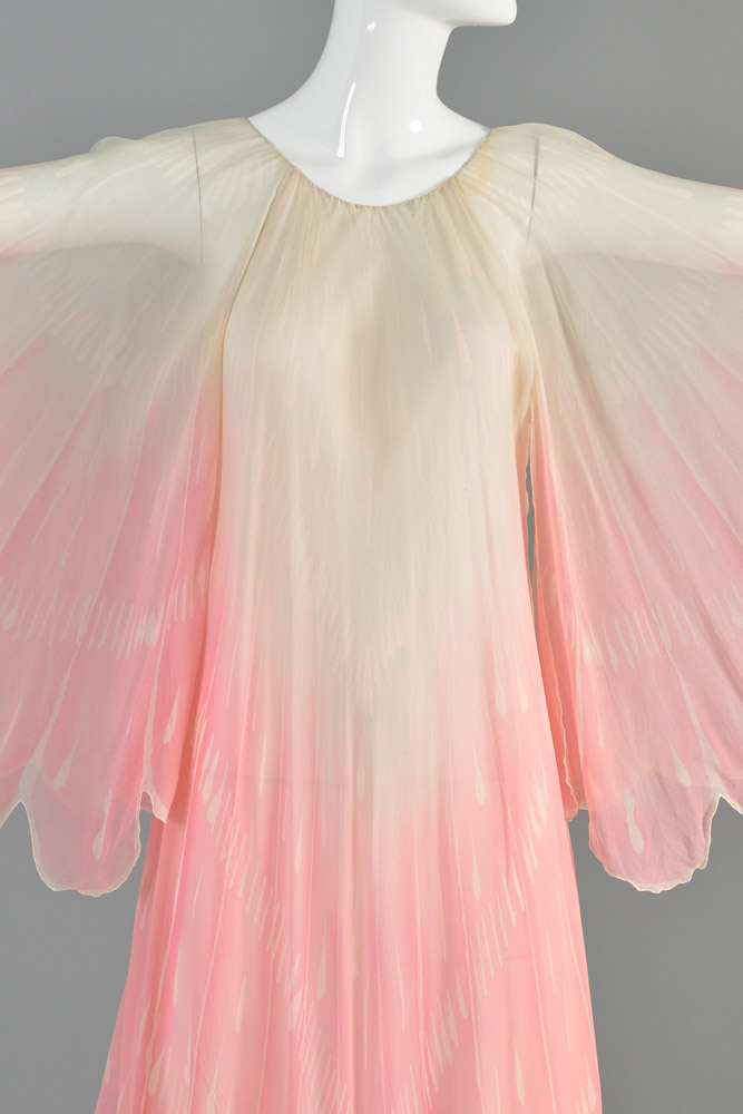 bustown-modern-vintage-oscar-de-la-renta-pink-sheer-scallop-feather-angel-sleeve-midi-dress-003.jpg