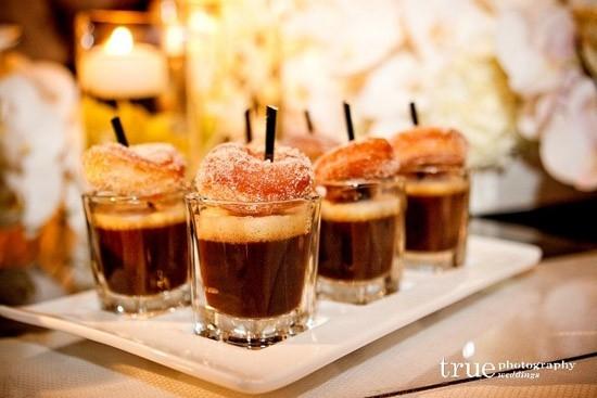 Doughnuts and espresso shots
