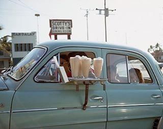 Ice cream drive in daydream