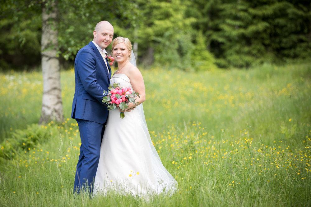 Brudpar svensk sommar